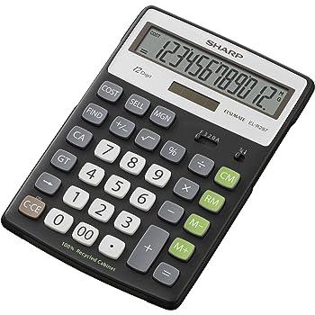 colore nero Calcolatrice da scrivania Sharp EL125TWH