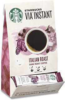 Starbucks VIA Instant Pike Place Roast Medium Roast Coffee, 50 Count (Pack of 1)