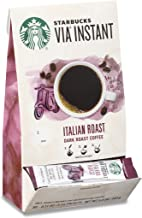 Starbucks VIA Instant Coffee Dark Roast Packets — Italian Roast — 100% Arabica — 1 box (50 packets)
