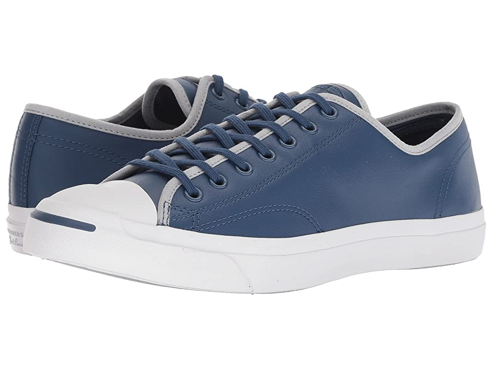 Converse Jack Purcell Leather Ox (Mason Blue/Wolf Grey/White) Shoes