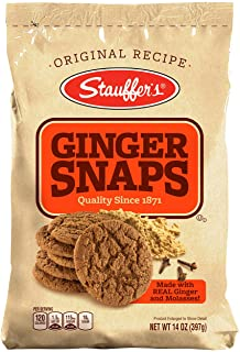 Stauffers Ginger Snaps Bag, 14-Ounce Bags (Pack of 6)