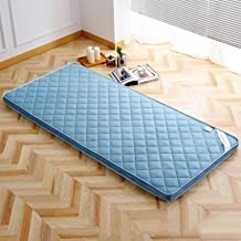 Futon Mattress Foldable Flannel Mattress Topper Japanese Portable Sleeping Tatami Mat for Student Dormitory-Coffee 180x200...