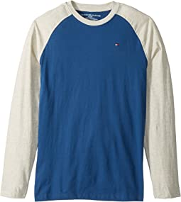 Tommy Hilfiger Kids - Luis-Bex Jersey Long Sleeve Tee (Big Kids)