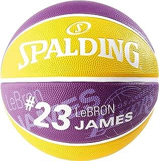 Spalding NBA 球员 Lebron James SZ.5 (83-863Z) 篮球,青少年中性款,紫色/黄色,5