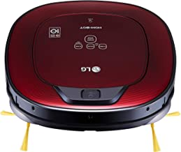 LG HOM-BOT Wi-Fi Enabled Robotic Vacuum, with 6 Smart Cleaning Modes, for Carpets, Hardwood and Tile, CR3365RD, Ruby Red Vacuum