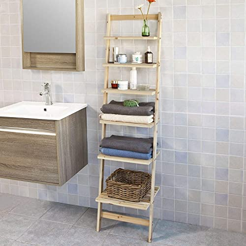 Sensational Bathroom Ladder Shelf Amazon Co Uk Beutiful Home Inspiration Truamahrainfo