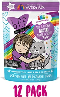 Weruva B.F.F. OMG - Best Feline Friend Oh My Gravy! Grain-Free Natural Wet Cat Food Pouches, Land & Sea Recipes in Gravy