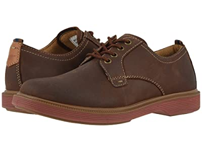 Florsheim Kids Supacush Plain Toe Ox, Jr. (Toddler/Little Kid/Big Kid) (Brown Crazy Horse/Brick Sole) Boy