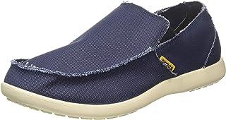 حذاء سانتا كروز مسطح للرجال من القماش والكتان سهل الارتداء من كروكس