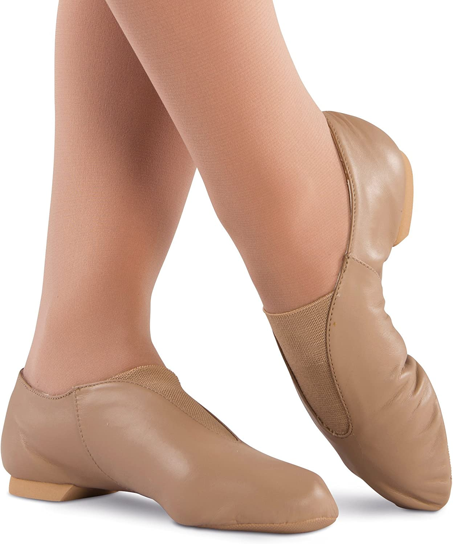 Danshuz Economy Leather Jazz shoes Adult Black or Tan