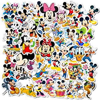 50 Pcs Cartoon Disney Mickey Mouse Stickers for Laptop Water Cup Motorcycle Bicycle Skateboard Luggage Decal Graffiti Patches