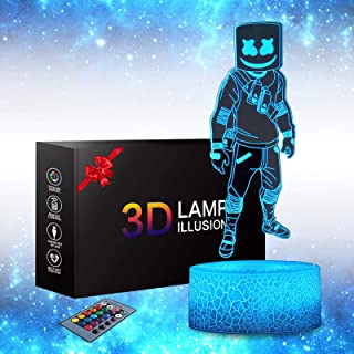 Trubetter 3D Anime Lamp - Fortress Games Gifts Toys 16 Color Change with Remote Control Kids Bedroom Decoration, Creative ...