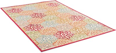 Benuta Modern Rug for Living Room and Bedroom, Synthetic Fibre, Colourful, 80 x 165 x 0,2 cm