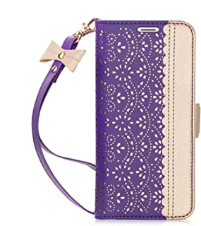 Homelove WWW Galaxy Note 9 Case,Note 9 Wallet Case,[Luxurious Romantic Carved Flower] Leather Wallet Case with [Inside Makeup Mirror] and [Kickstand Feature] for Galaxy Note 9 2018 Purple
