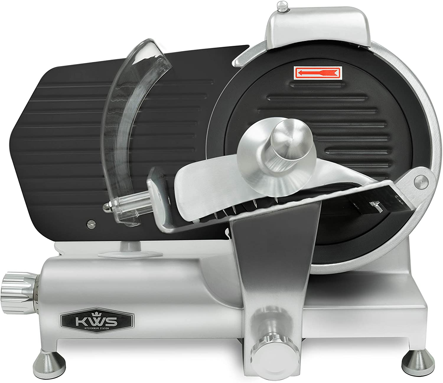 KWS MS-10ET All Metal 320W Time sale Electric with Meat Slicer 10-Inch Limited price Non