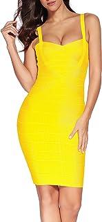 Shownice - Vestido para mujer, de rayón, ajustado y elástico