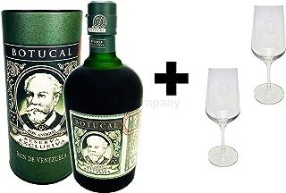 Botucal Reserva Exclusiva Rum mit Geschenkverpackung mit 2 Botucal Nosing Gläser 0,70l 40% Vol Ron de Venezuela Glas Longdrinkglas - Set - Enthält Sulfite