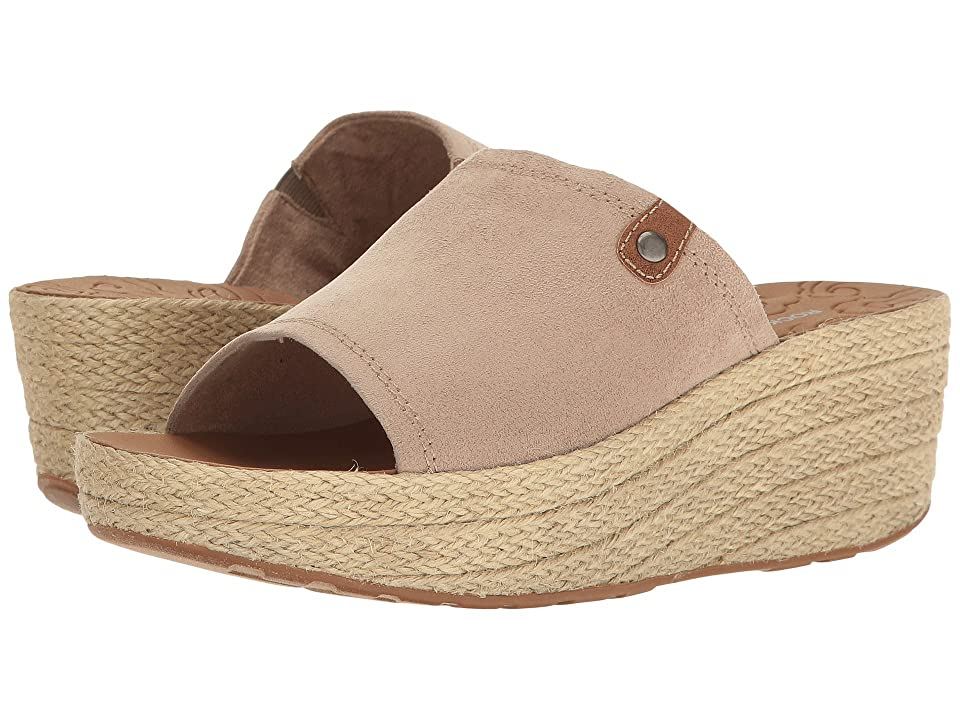 Rockport Lanea Slide (Taupe Faux Suede) Women
