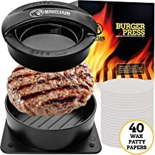 Mountain Grillers Burger Press Patty Burger Maker - Non Stick Hamburger Mold Kit for Easily Making Delicious Stuffed Burgers, Regular Beef Burger and Perfect Shaped Patties - Bonus 40 Wax Papers