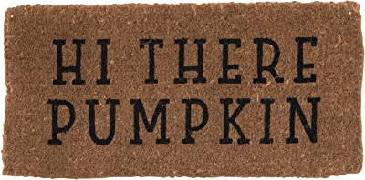 Creative Co-Op Hi There Pumpkin Natural Coir Doormat