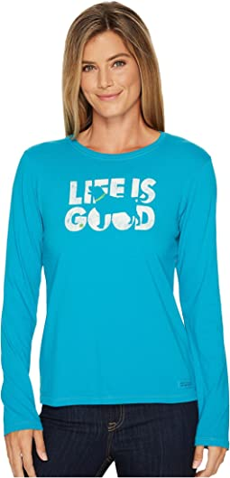 Life is Good - Dog Silo Long Sleeve Crusher Tee