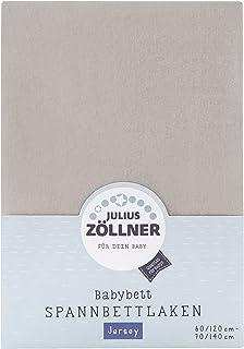 Julius Zöllner 8320147540- Spannbetttuch Jersey für das Kinderbett, Größe: 60x120 / 70x140 cm, Farbe: taupe
