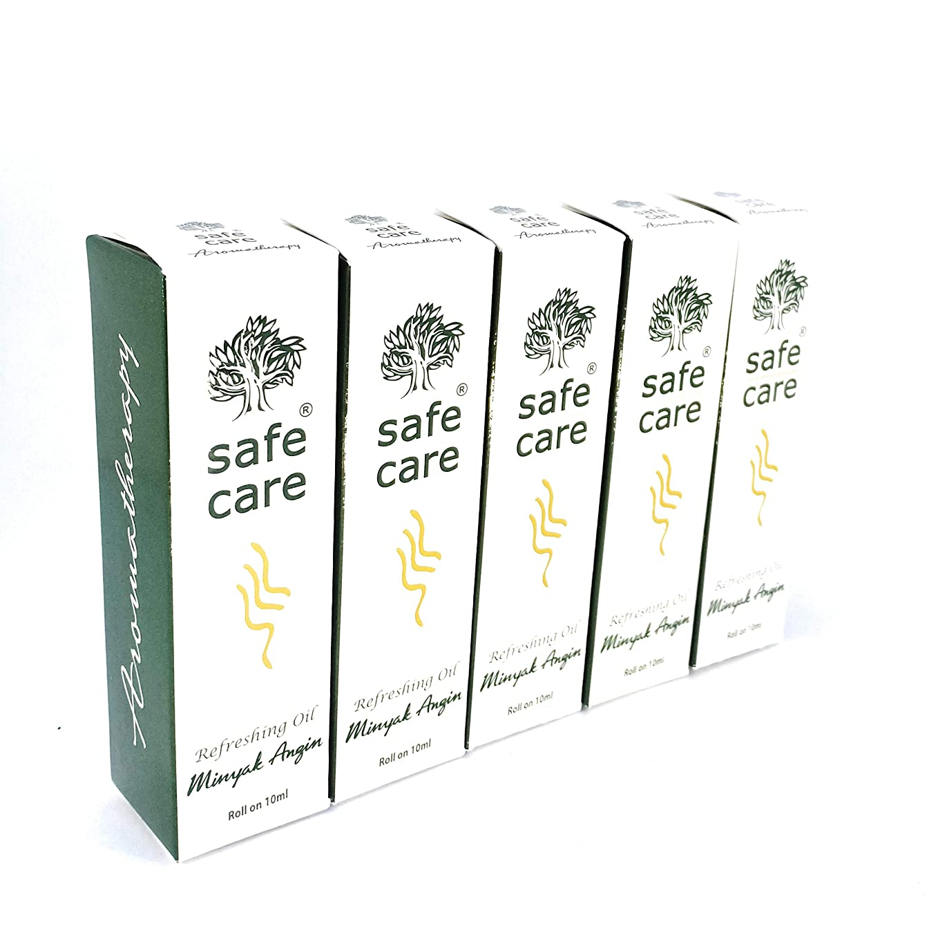 憂鬱発見する悪行Safe Care セイフケア Aromatherapy Refreshing Oil アロマテラピー リフレッシュオイル ロールオン 10ml × 5本セット [並行輸入品][海外直送品]