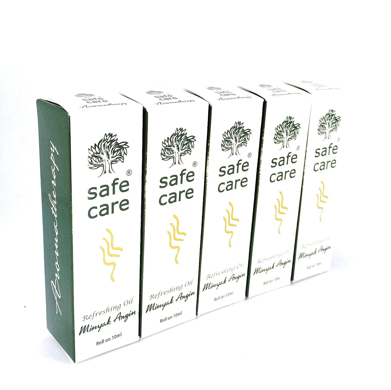 コーラス線生理Safe Care セイフケア Aromatherapy Refreshing Oil アロマテラピー リフレッシュオイル ロールオン 10ml × 5本セット [並行輸入品][海外直送品]