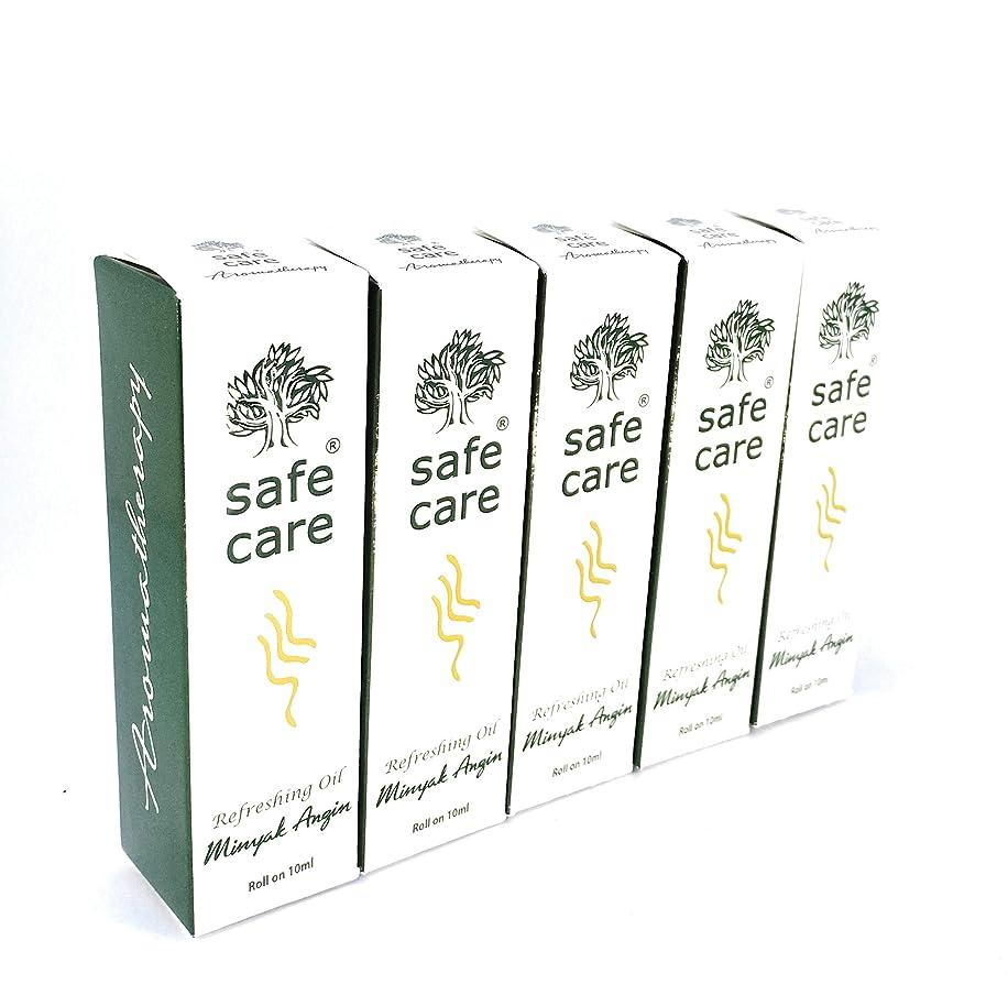 情熱分子病気のSafe Care セイフケア Aromatherapy Refreshing Oil アロマテラピー リフレッシュオイル ロールオン 10ml × 5本セット [並行輸入品][海外直送品]