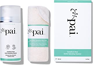 Pai Skincare Camellia & Rose Gentle Hydrating Cleanser + Cloth with Omega 3 and Vitamins A, B, C & E for Sensitive Skin - Alcohol Free - 100ml