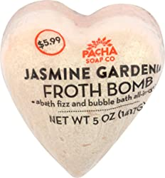 Pacha Soap, Froth Bomb Jasmine Gardenia Heart, 5 Ounce