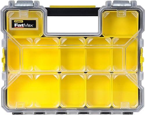 Stanley 1-97-517 Rangement Organiseurs Et Casiers Gamme FatMax - Etanche - Polycarbonate Incassable - 10 Compartiment...