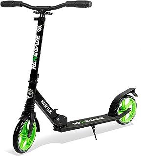 اسکوتر - اسکوتر مخصوص نوجوان - Kick Scooter - اسکوتر 2 چرخ با فرمان T-Bar قابل تنظیم - اسکوتر Kick تا بزرگسالان تاشو با عرشه ضد لغزش آلیاژ
