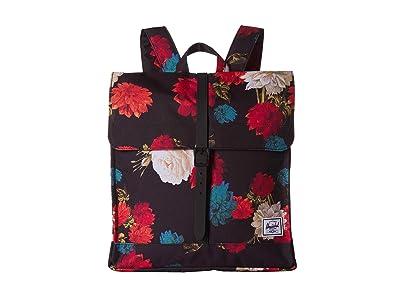Herschel Supply Co. City Mid-Volume (Vintage Floral Black) Backpack Bags
