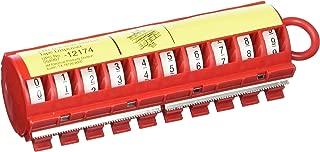 3M(TM) 12174 ScotchCode(TM) Wire Marker Dispenser w/Tape STD-0-9, Includes 1 ea. of 0-9 Numbered Rolls