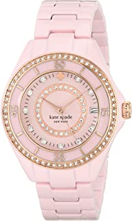 kate spade new york Women's 1YRU0621 Seaport Grand Analog Display Japanese Quartz Pink Watch