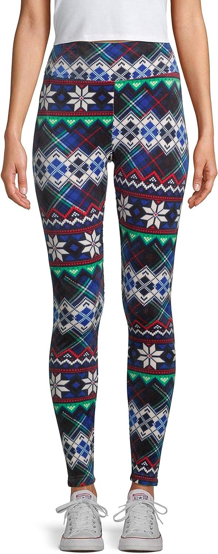 Juniors Christmas Snowflake Fair Isle Super Plush High Rise Legging