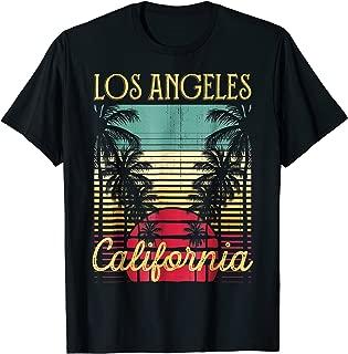 Los Angeles California Retro 70's Vintage Surf Tee Shirt