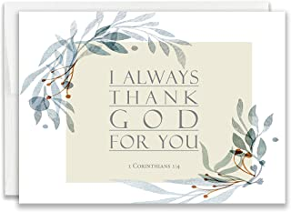 Christian Thank You Cards with Bible Verse - Pack of 24