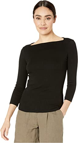 Elise Ultra Rib Envelope Neck Tee