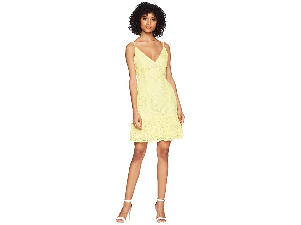 BB Dakota RSVP Gisil Lace Drop Waist Dress (Citrus) Women