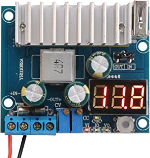 DROK LTC1781 100W DC/DC Step Up Converter 3-35V to 3-35V Switching Regulator Constant Current with Volt Ampere Meter USB Interface for DIY Mobile Power Supply