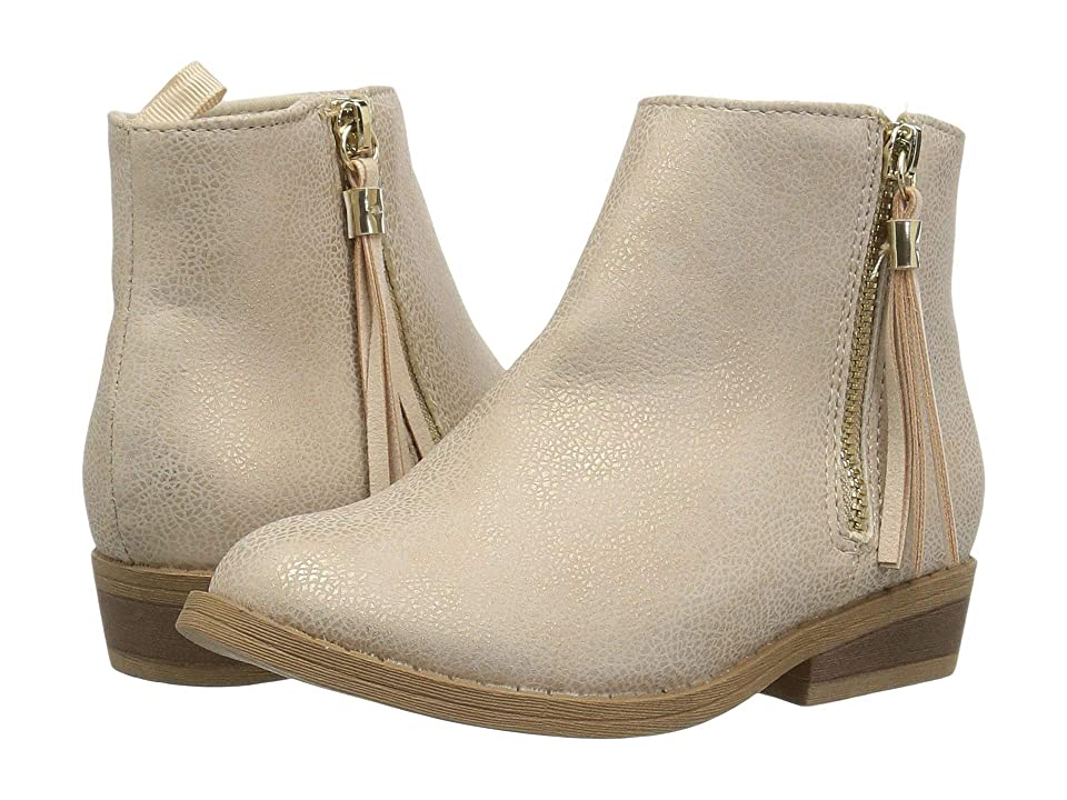 Baby Deer First Steps Shimmer Ankle Boot with Tassel (Infant/Toddler) (Champagne) Girls Shoes