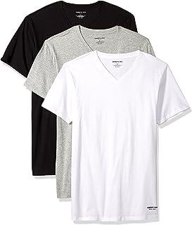 Kenneth Cole New York Men's 100% Cotton V-Neck T-Shirt, 3 Pack