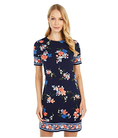 MICHAEL Michael Kors Petite Blooming Bouquet Dress (Coral Peach) Women
