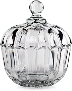 Circleware 57207 Jubilee - Clear Candy Dish with Cover, 4.65