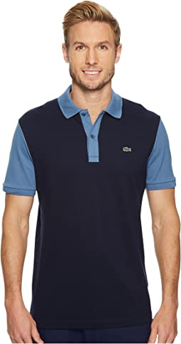 Lacoste - Short Sleeve Color Block Pique Pima Stretch Slim