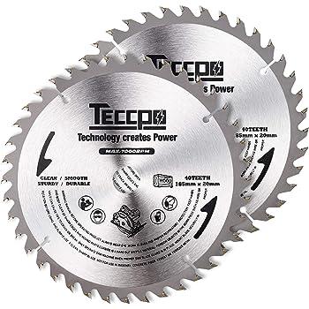Lame de scie circulaire TECCPO 2x 185mmx20mm, TCT, 40 Dents, Bois coupés - TACB24A