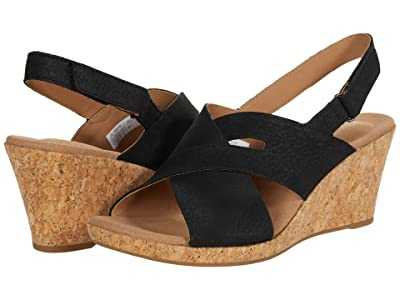 Rockport Briah Slot Sling (Black Nubuck) Women