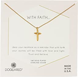 With Faith…Cross Pendant with Crystal Inset Necklace